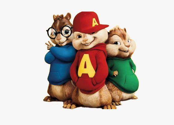Alvin and the chipmunks,three brothers PNG clipart.