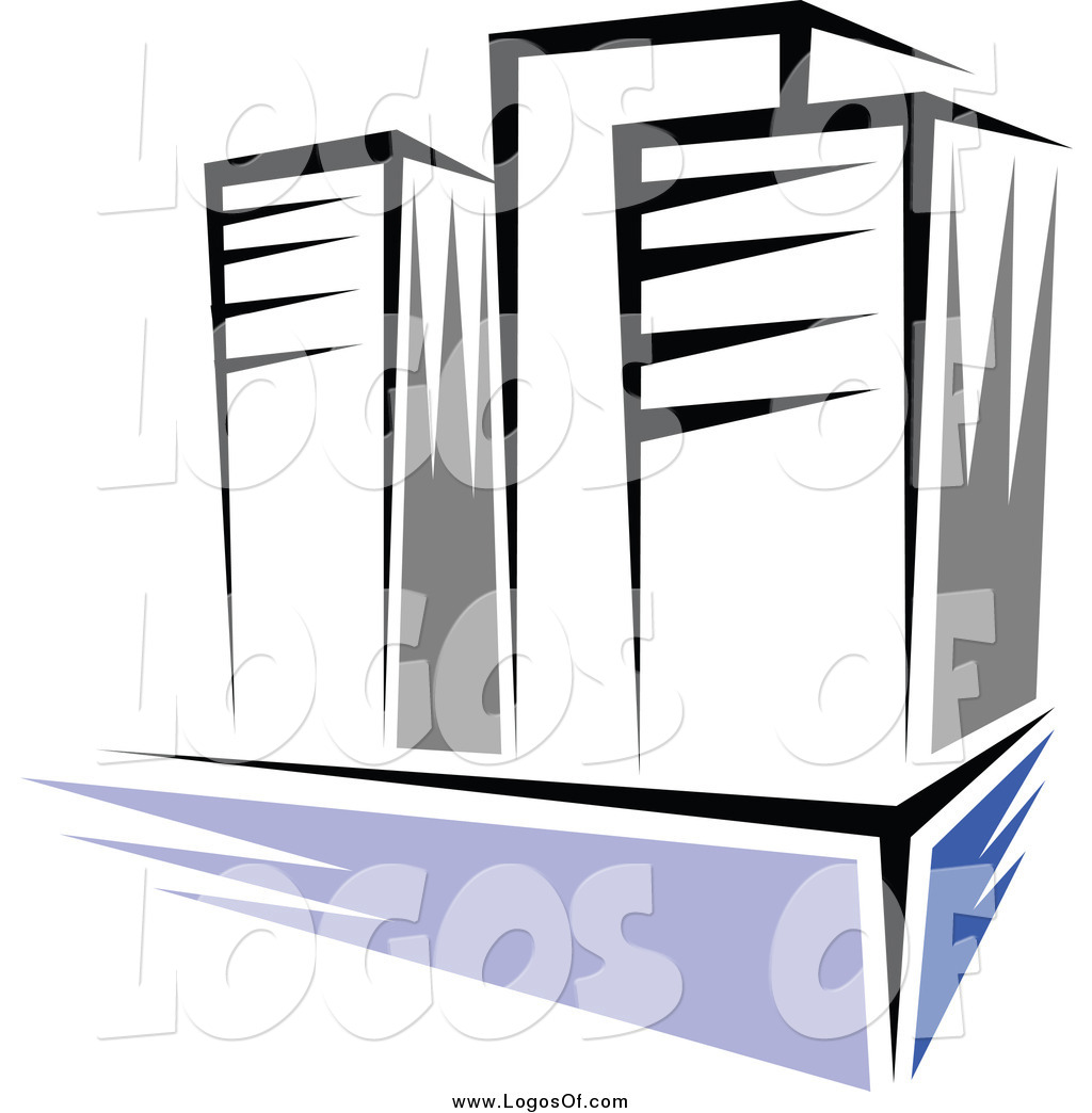 Vector Clipart of a Three High Rise Buildings Logo by Vector.