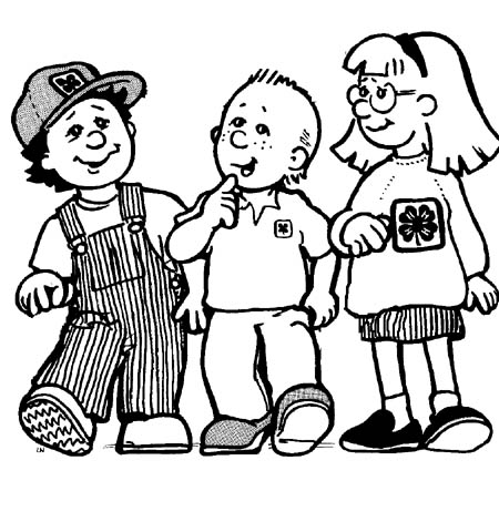Three Kids Clipart.