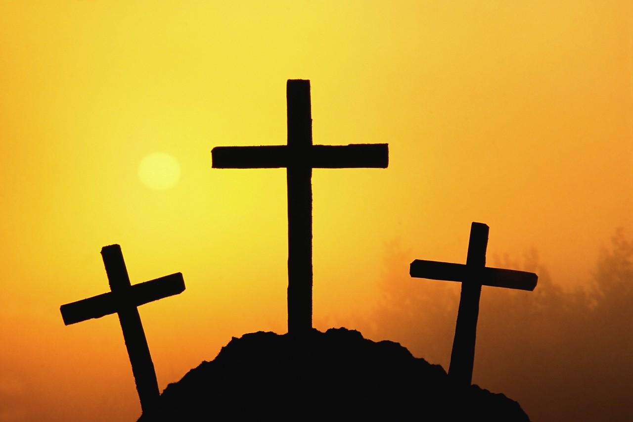Three Cross Church Clipart.