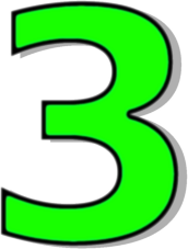Number 3 Clipart.