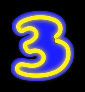 Number Three Clip Art at Clker.com.