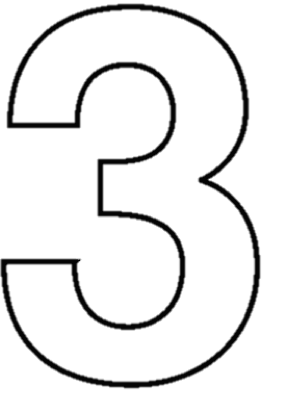 Number 3 Clipart Black And White.