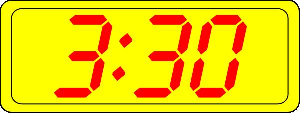 Digital Clock 3:30 Clip Art at Clker.com.