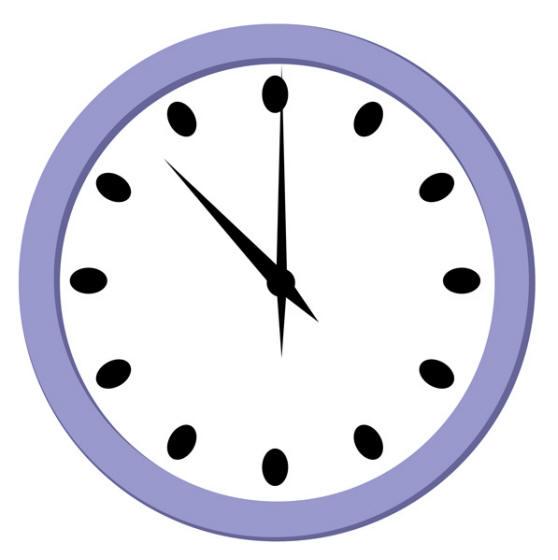 Wall Clock Striking Three O Clock Clipart.
