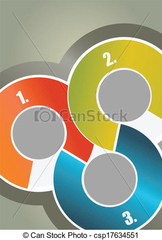 Clipart Vector of Vector abstract brochure background with three.