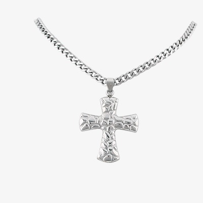 Necklace, Silver, Jewelry, Cross PNG Tra #505999.