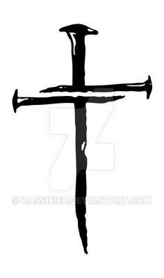 Three Nails Cross, Nail Cross SVG, Cross SVG, Nailed It svg.