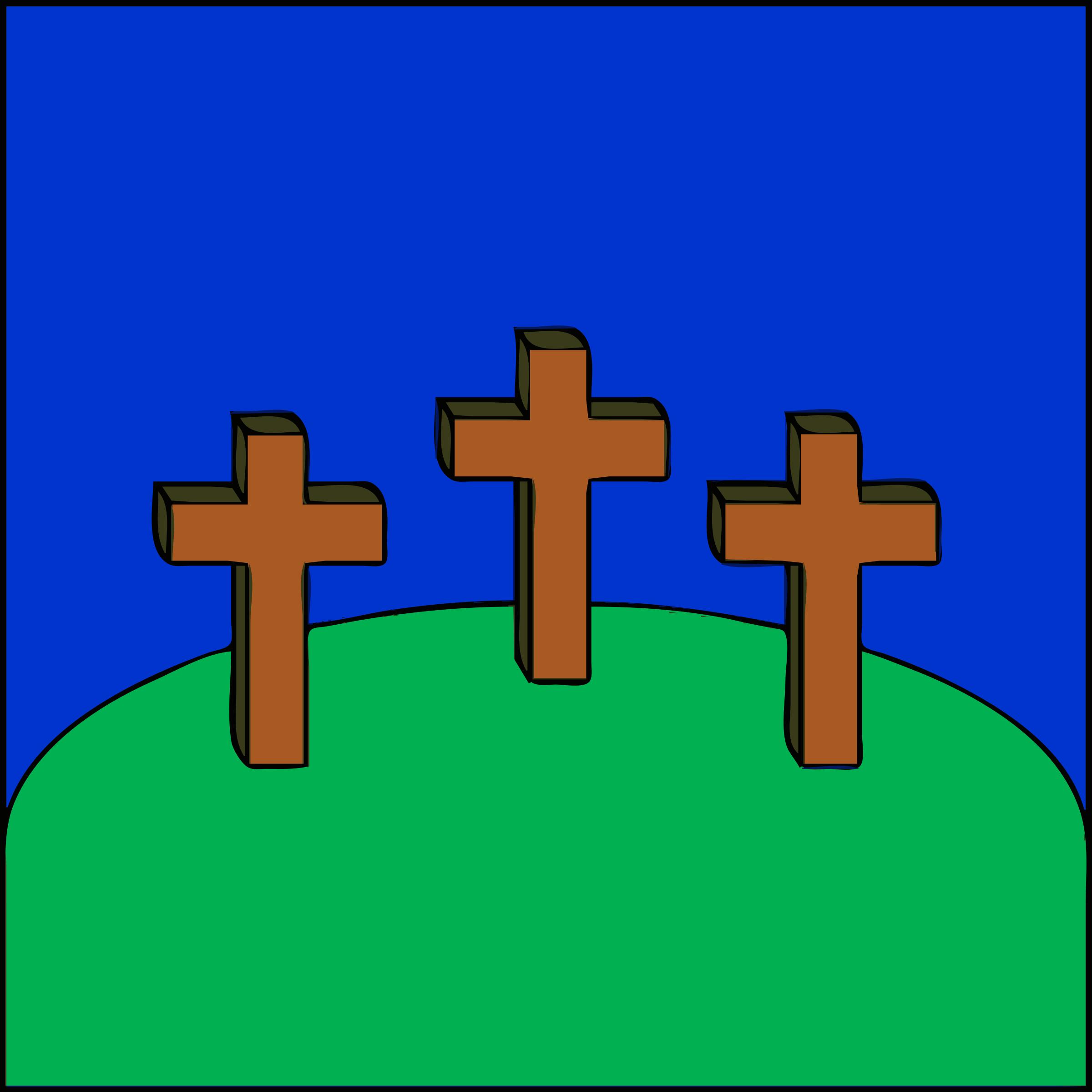 Christian Cross Trans Black Cross.