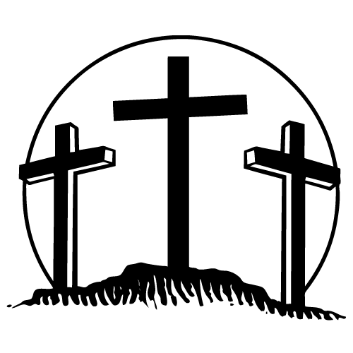 The Three Crosses Bumper sticker Decal Car.