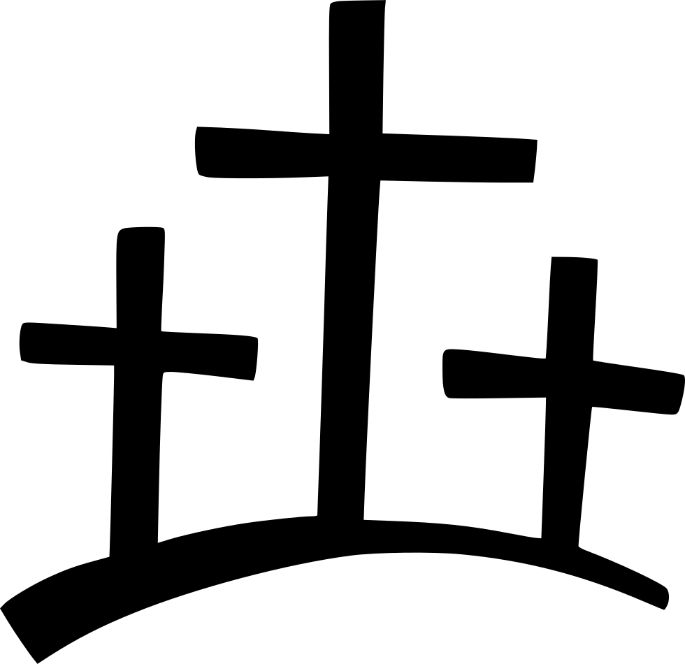 Three Crosses On A Hill Clipart , Transparent Cartoon.