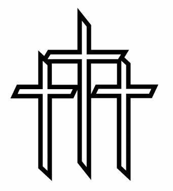 Three Crosses Clip Art.