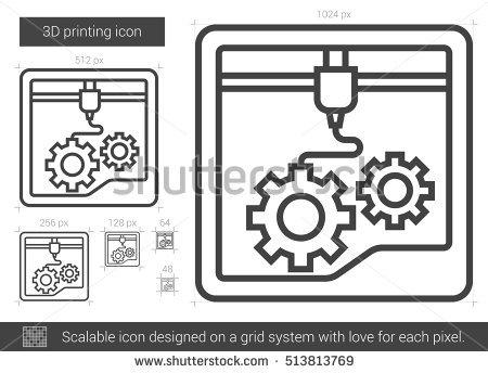 3d Print Vector Stock Photos, Royalty.