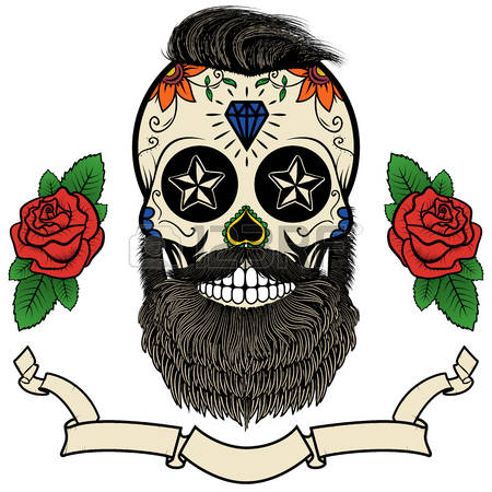 1,312 Skull With Beard Stock Illustrations, Cliparts And Royalty.