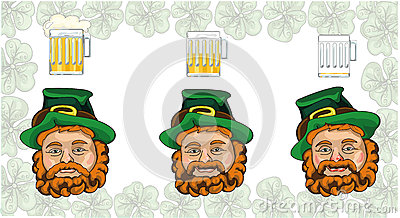 Three Leprechaun Royalty Free Stock Photography.