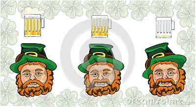 Three Leprechaun Royalty Free Stock Photography.