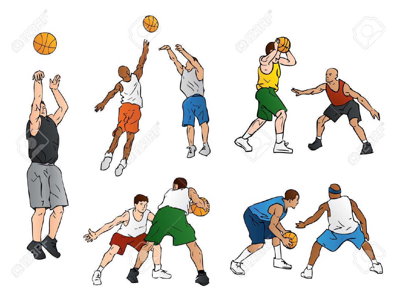 Basketball Defense & Shooting Royalty Free Cliparts, Vectors, And.