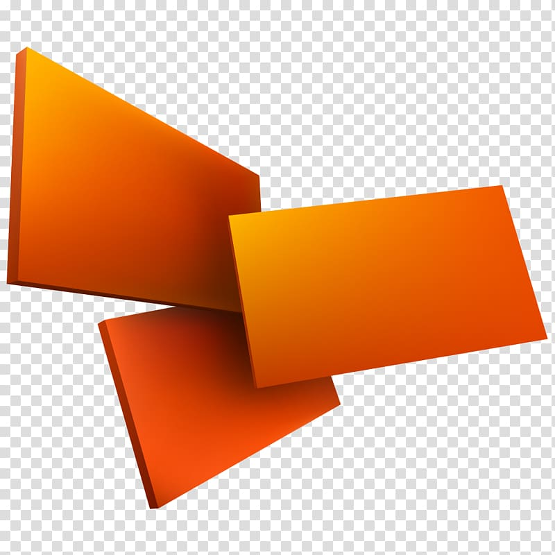 Three orange boards, Geometry Euclidean Three.