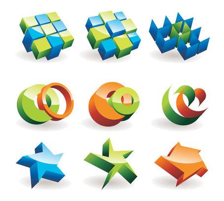 Three Dimensional Mark Clip Art, Vector Three Dimensional Mark.