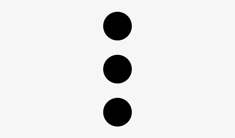 Show More Button With Three Dots Vector.