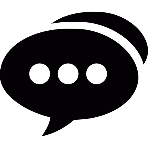 Speech Bubble With Three Dots PNG Icon (3).