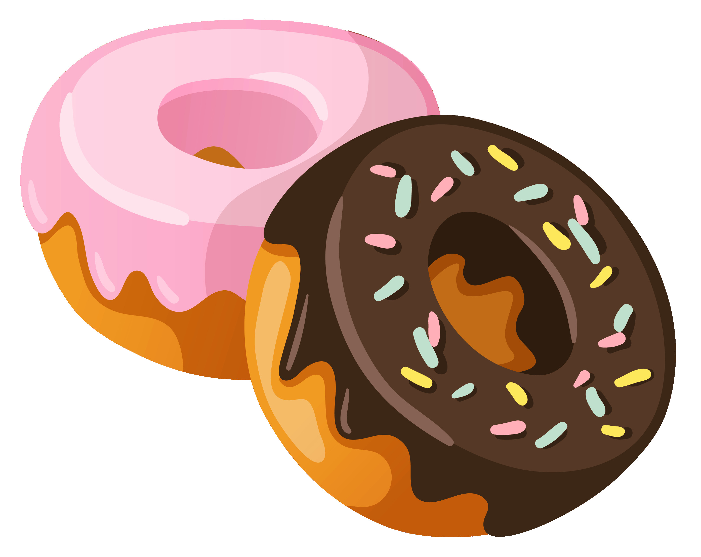 1386 Donuts free clipart.