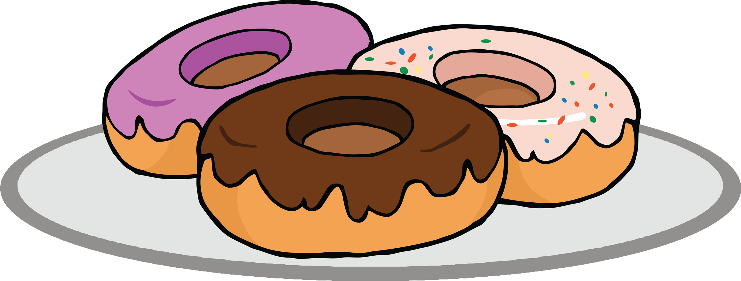 2753 Donut free clipart.