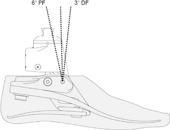 Schematic diagram of hydraulic foot.