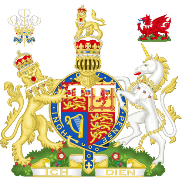 Current Coat of arms of HRH Amelia, Princess of Wales.
