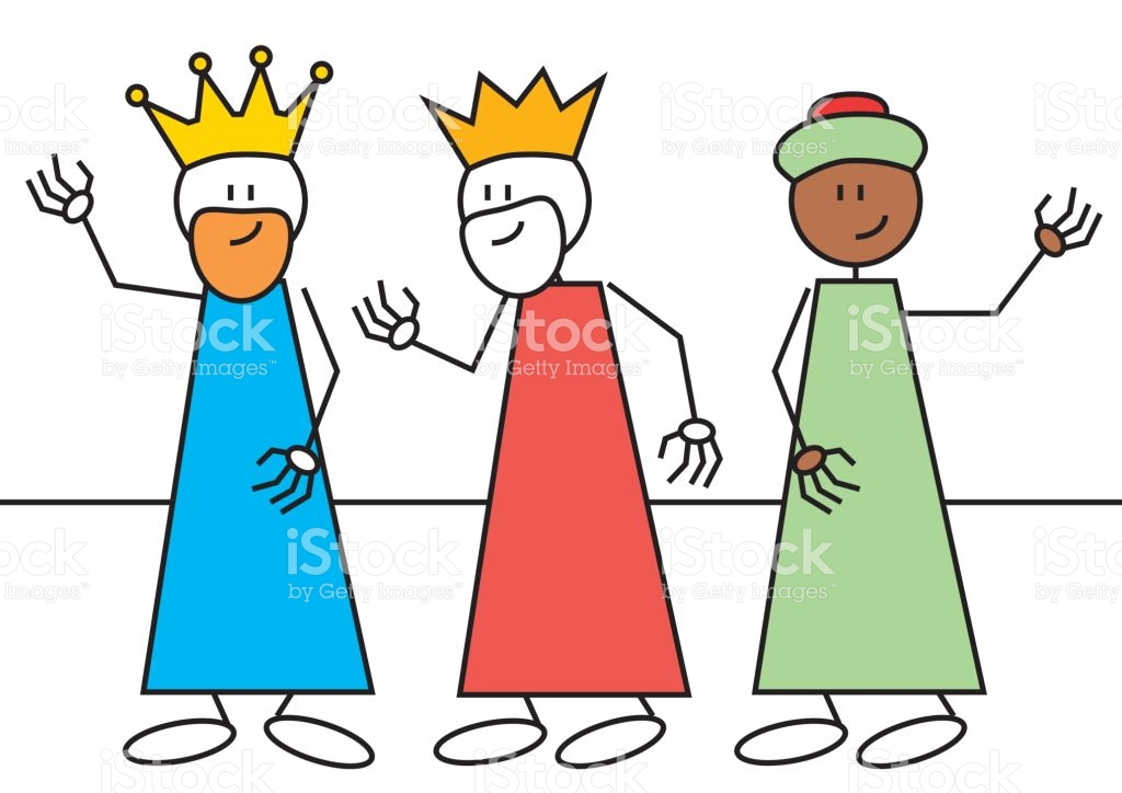 Stick Figure Three Wise Men stock vector art 650713670.