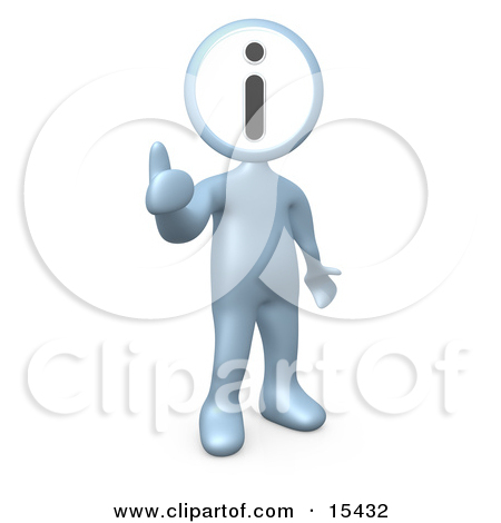 Clipart Illustration of Three Colorful People Figures, One Blue.