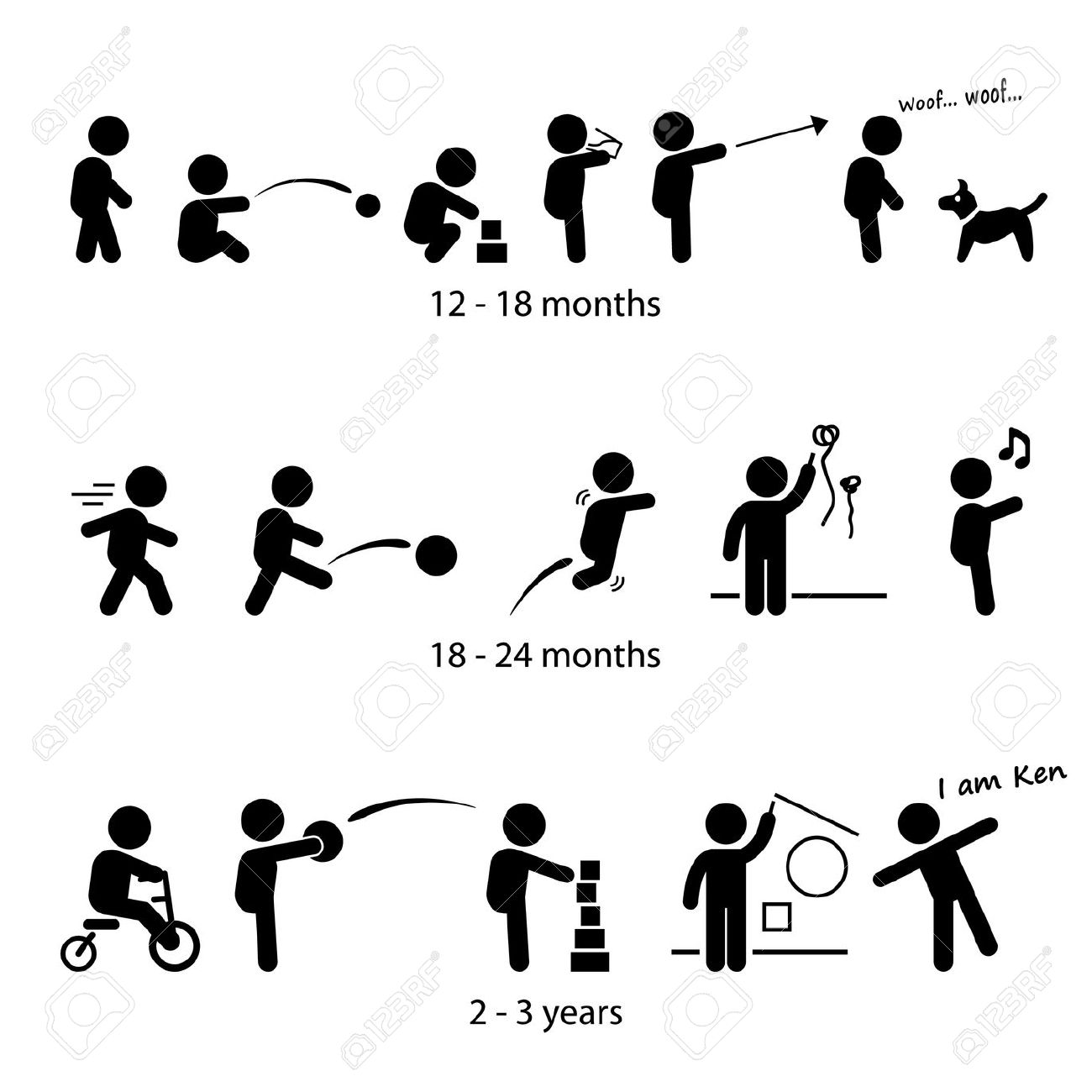 100 year old stick people clipart.