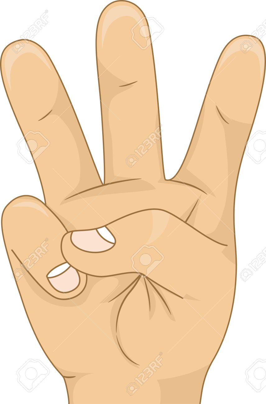 Three Finger Clipart.
