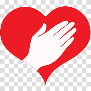 Heart Hand Finger , caring transparent background PNG.