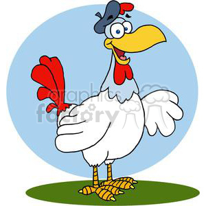 French Hen clipart. Royalty.