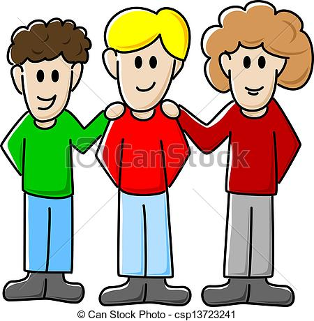 Three Friends Clipart.