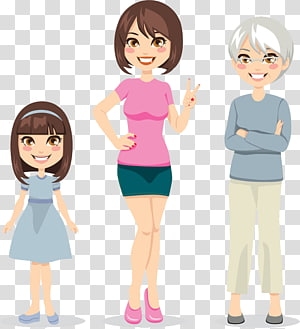 Three Generations PNG clipart images free download.