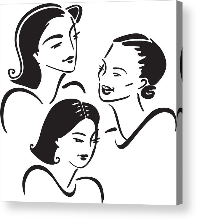 Three Generations Of Women Acrylic Print.