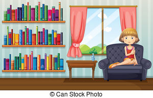 Vectors of Three girls sitting on sofa at home illustration.