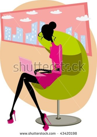Silhouette Three Girls Sitting On Chair Stock Vector 72656905.