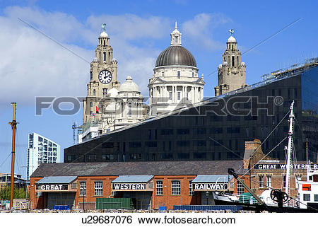 Stock Images of England, Merseyside, Liverpool. The changing.
