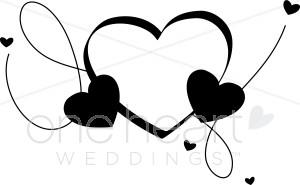 Three Hearts Clipart.