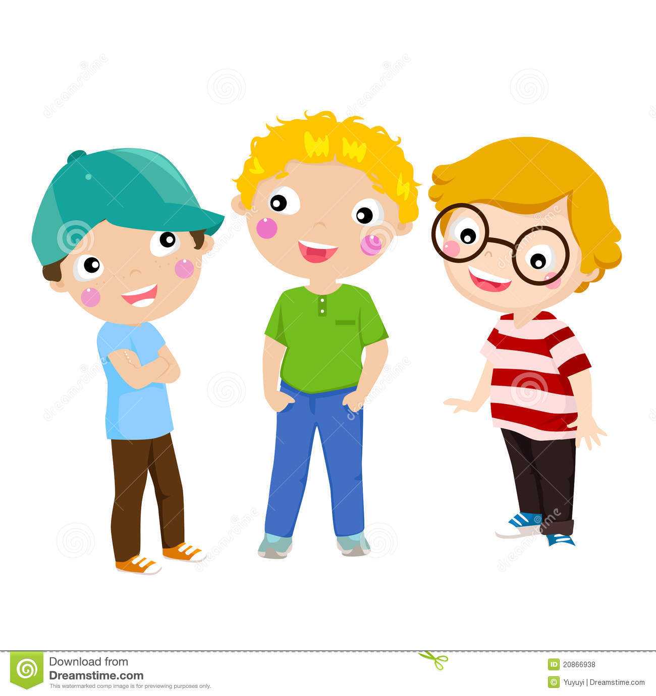 Three kids clipart 5 » Clipart Station.
