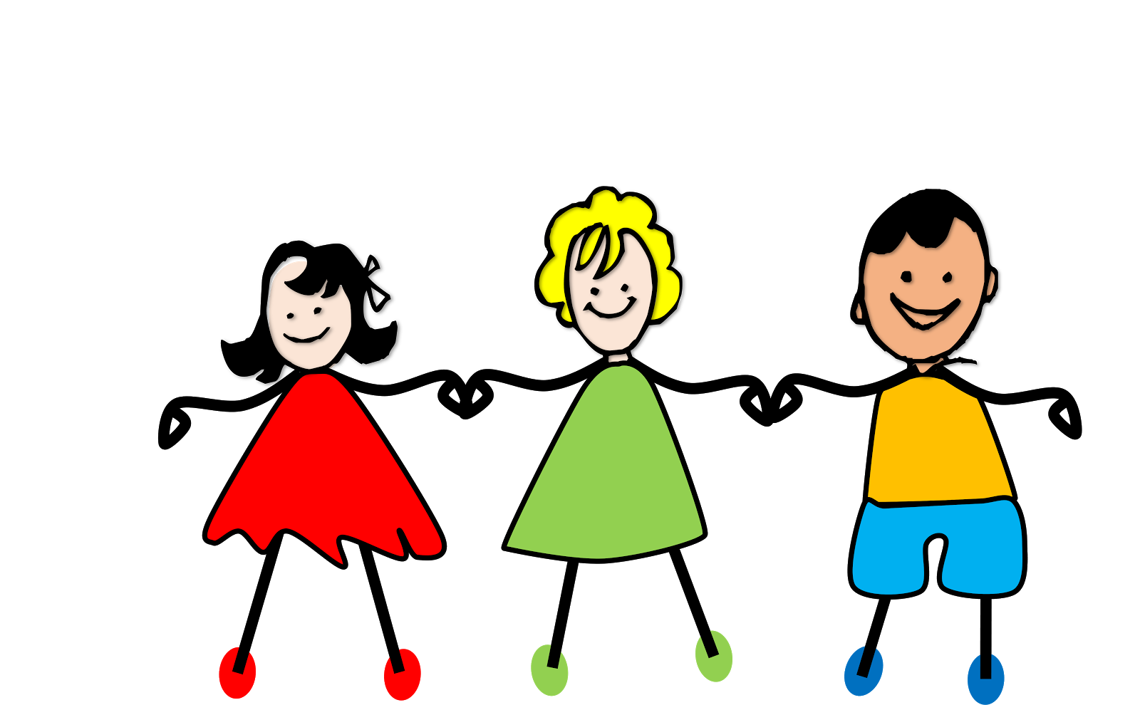 Little Kids Holding Hands Clipart.