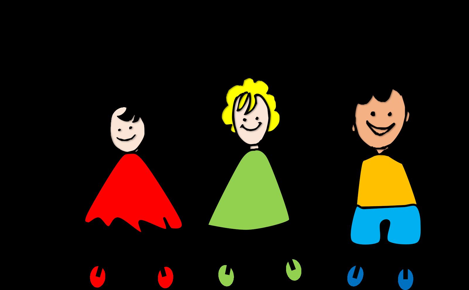 Little Kids Holding Hands Clipart.