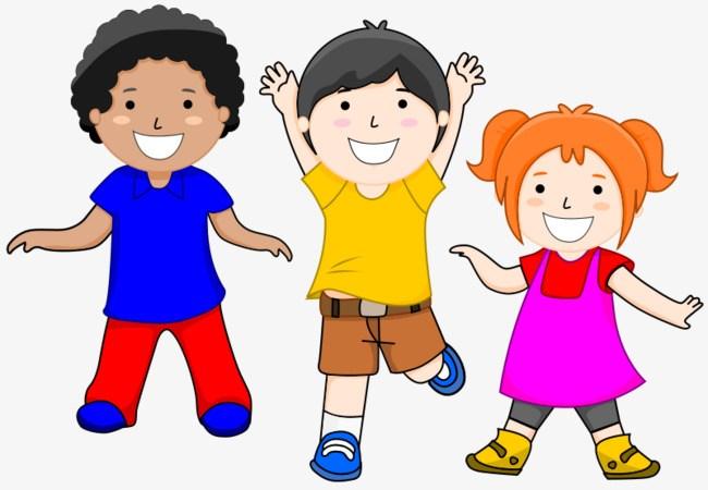 Three kids clipart 3 » Clipart Portal.