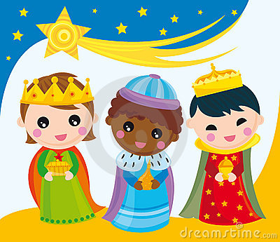Three Kings In Bethlehem Royalty Free Stock Images.