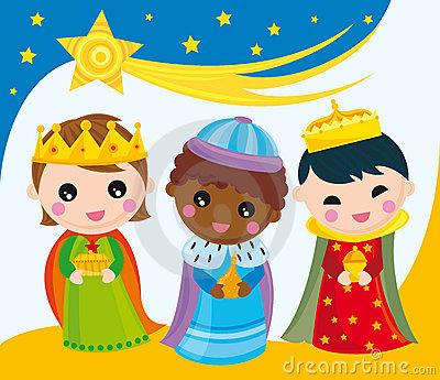 Three Kings In Bethlehem Royalty Free Stock Images.