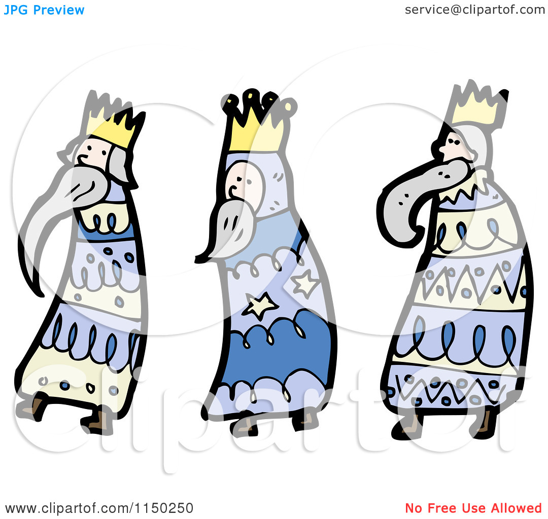 3 Kings Day Clipart.