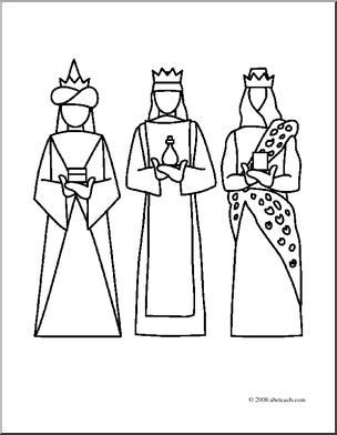 Three king church clipart #10